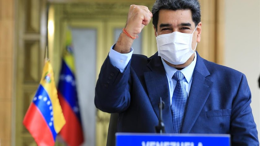 Nicolás Maduro, con mascarilla, en una imagen de archivo.