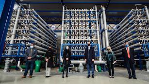 Visita institucional a las instalaciones de la desaladora Mar de Alborán