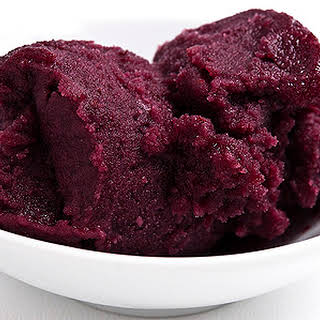 Mulberry or Blackberry Sorbet.
