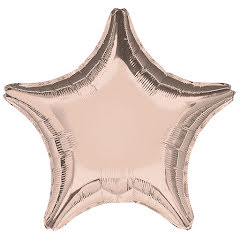 Folieballong, stjärna rose