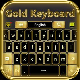 Роскошный золотой клавиатура