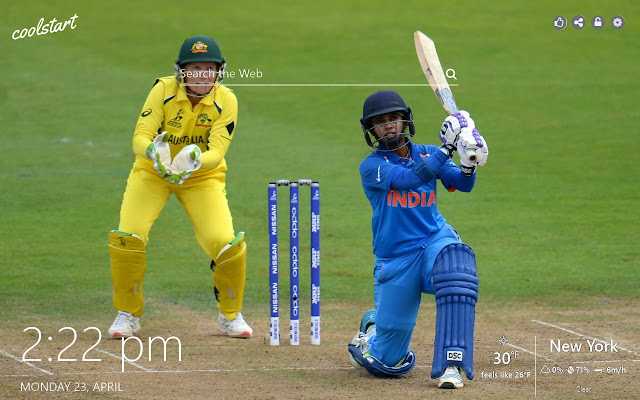 Cricket HD Wallpaper Sport New Tab Theme