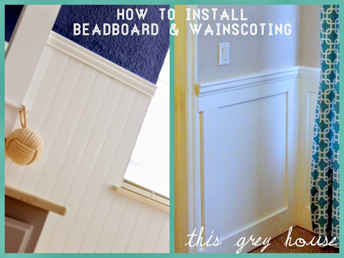 How to Install Beadboard Wainscoting This Grey House