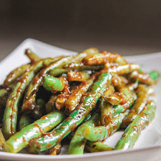 Pantry Green Beans in Black Bean Sauce.