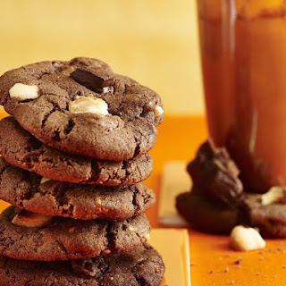 Triple Chocolate Chunk Macadamia Nut Cookies