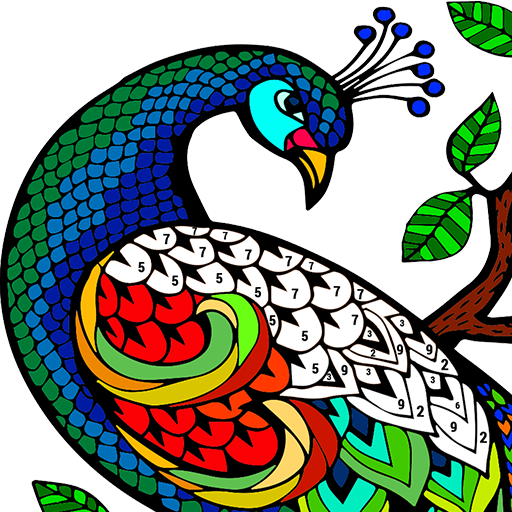 Animals Color by Number: Coloring, Paint by Number Icon