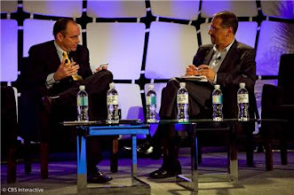 Photo: Samsung's Tim Baxter and CNET's Brian Cooley at the Next Big Thing panel - Photo by Sarah Tew