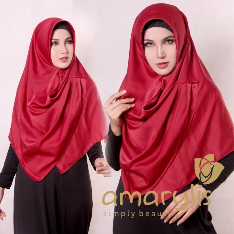 Jilbab Amarylis Classic Ruffle Non Pet Satin Silk