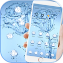 Blue Water Rose Flower Theme Wallpaper icon