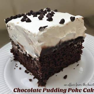 Chocolate Pudding Poke Cake.