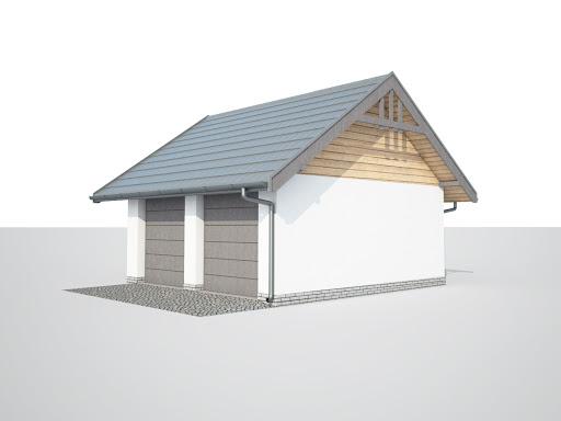 projekt G330c szkielet drewniany, garaż dwustanowiskowy