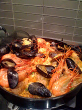 Photo: Paella! Many prawns died for this.