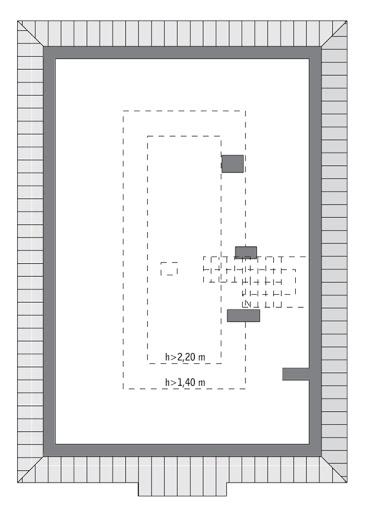 Własny dom - C303 - Rzut poddasza do indywidualnej adaptacji (29,5 m2 powierzchni użytkowej)