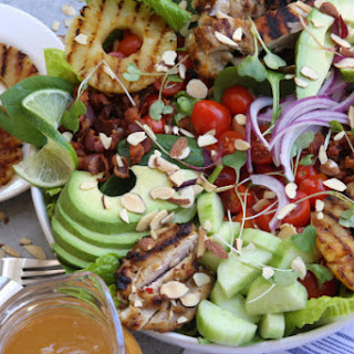 Grilled Pineapple Sesame Chicken Salad