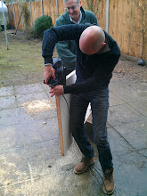 Photo: Came to write GNOME documentation, actually shaving a door. WTF #GNOME #docfest #england   with and courtesy of +Michael Hill for the picture