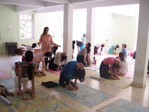 Photo: 1 Month YTT Course - Batch of May 2008 - Jeenal Mehta conducting Asana's Class (students performing Ustrasana).