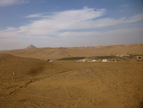 Photo: More outline of constructions less than 100 meters from the Mortuary Temple of King Snefru