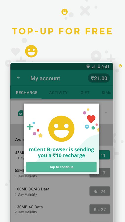 Mcent Browser Free Recharge Android Apps On Google Play