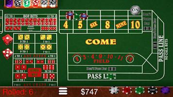 Screenshot of Craps Trainer Pro