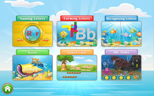 ABC Fast Phonics with cartoons and sound. Fun for kids or adults.