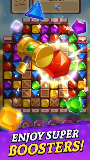 Jewels and Gems Blast: Fun Match 3 Puzzle Game android2mod screenshots 3