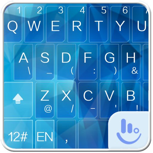 TouchPal Icy Blue Theme 通訊 App LOGO-硬是要APP