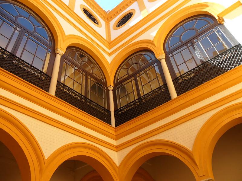 Dettagli di palazzo Andaluso di Marinazu