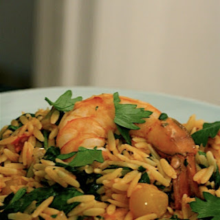Shrimp and Tomato Orzo