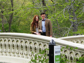 Photo: More of The Doctor and Amy Pond on Central Park's Bow Bridge.