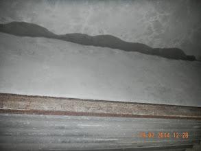 Photo: Rain seepage on Mumty Side ,seen from stairs- D-41, P-3, GNOIDA. Builder : Nanak Builders, Mr. Virender Batra