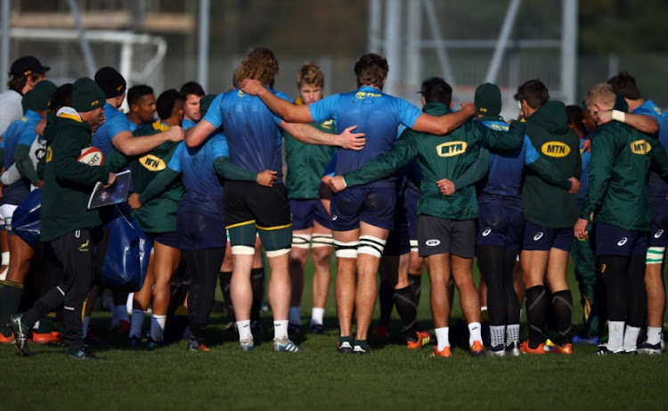 General views during the South African national rugby team training session at WSC Trefforest Grounds on November 22, 2018 in Cardiff, Wales.