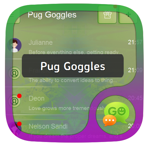 個人化App|帕格护目镜 GO SMS LOGO-3C達人阿輝的APP