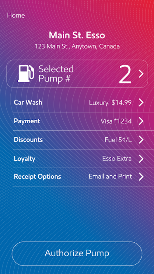 Esso Speedpass+- screenshot