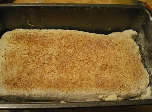 Spread with honey butter and sprinkle with additional cinnamon sugar.  Bake until golden...