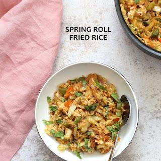 Veggie Spring Rolls Fried Rice.