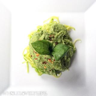 Zoodles with Avocado Pesto