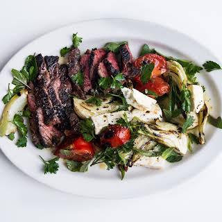 Grilled Hanger Steak with Fennel Salad.