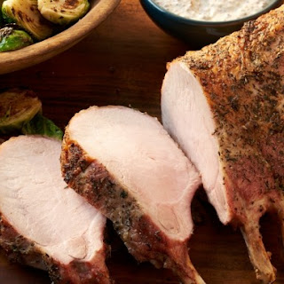 Pork Rib Roast with Mustard Sauce