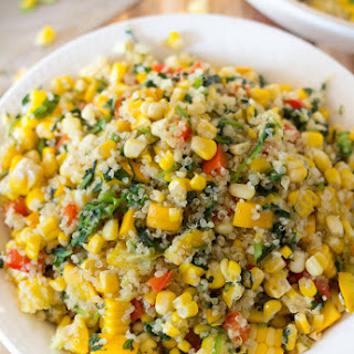 Grilled Summer Corn and Quinoa Salad.