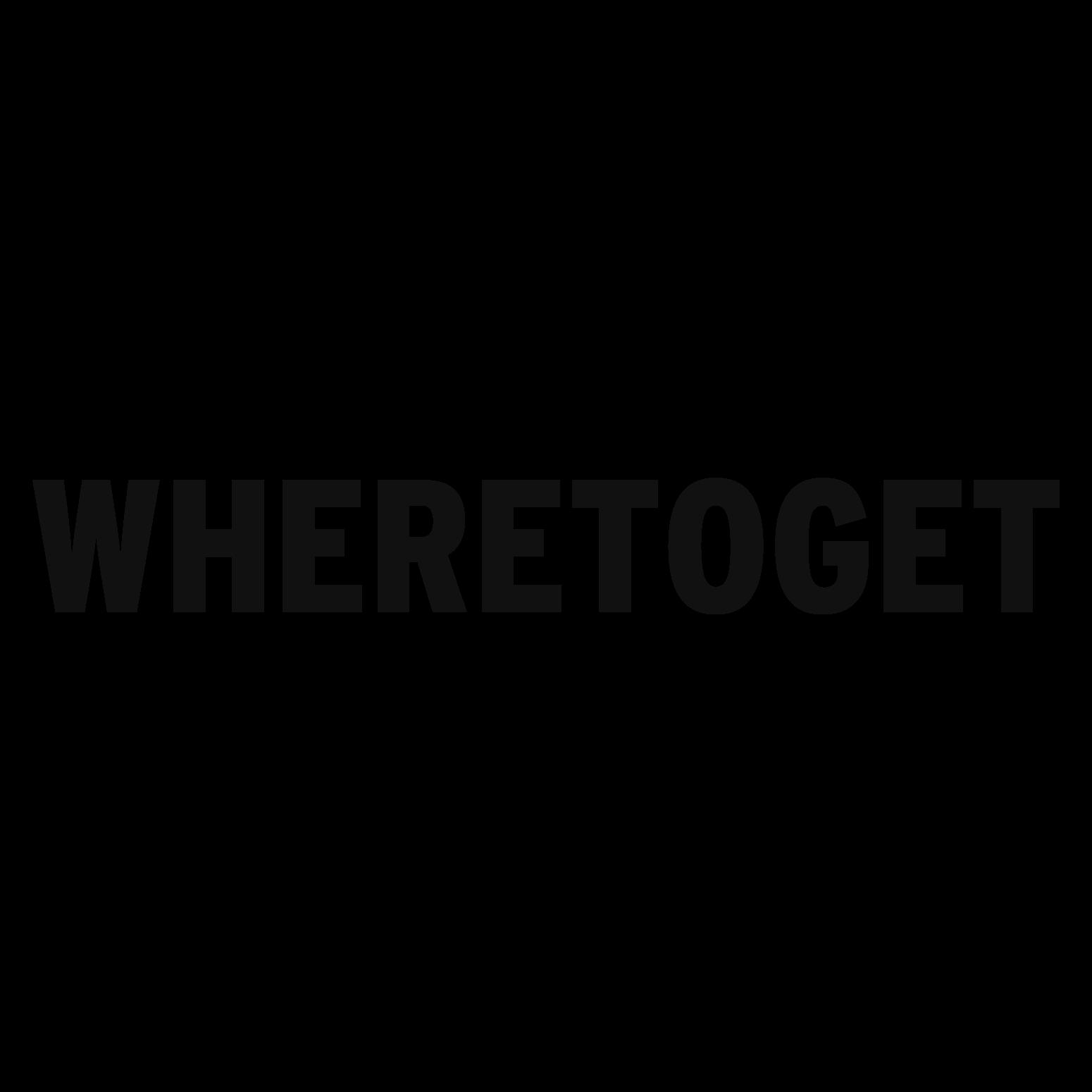 Where To Get  Logo Black