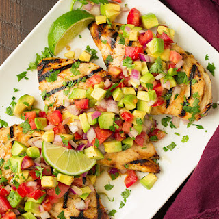 Grilled Cilantro-Lime Chicken with Avocado Salsa