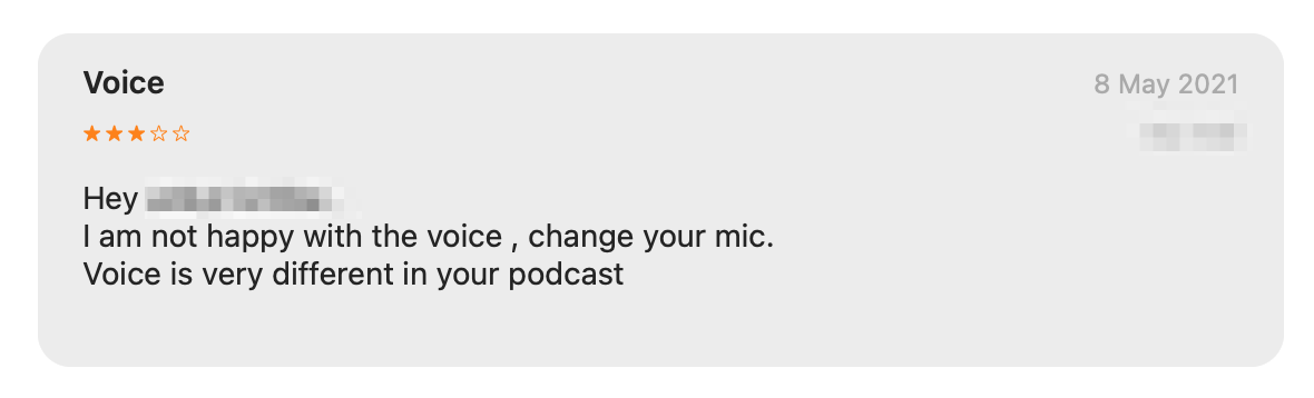 A bad podcast review