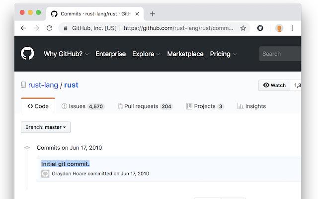 GitHub back