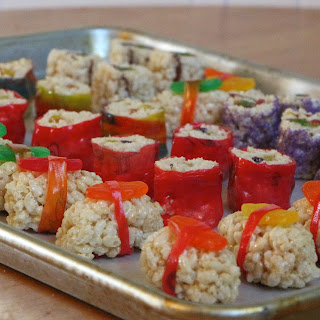 Rice Krispie Treat 'Sushi'
