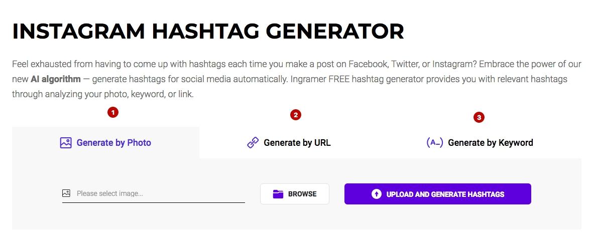 Ingramer settings for Instagram promotion 19