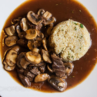 Beef with Mushroom Gravy