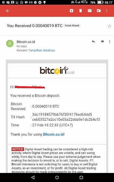 Situs ini membayar bitcoin setiap ada yang daftar - Bukti withdraw ke vip.bitcoin.co.id