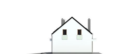 Sosnówka z garażem 1-st. bliźniak A-BL1 - Elewacja prawa