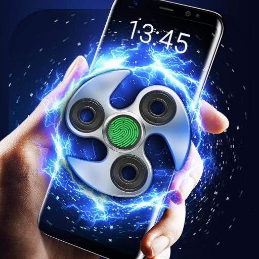 Fidget Spinner Fingerprint lock Screen