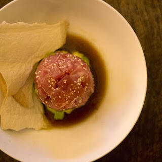 Tuna Tartare with Avocado & Sweet Asian Sauce.